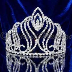 Diademe mariage couronne de Miss ,Elfe, ton argent